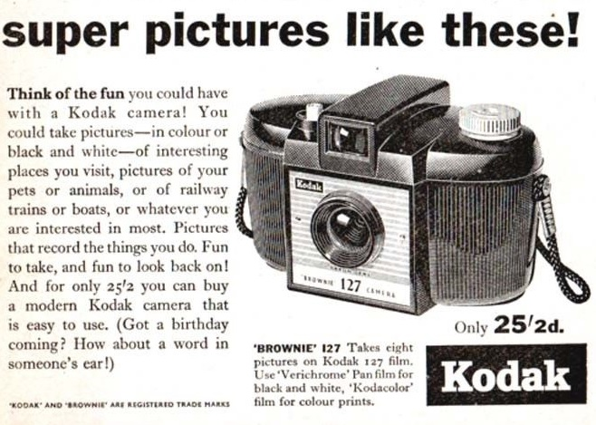 Kodak Brownie 127 ad